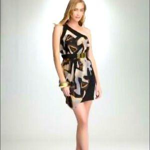 Bebe One Shoulder Party Dress